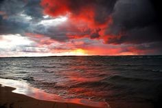 East Bay Sunset, after a storm on East Traverse Bay, Lake Michigan | Pure Michigan, on Flickr.