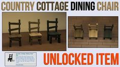 Mod The Sims - Country Cottage Dining Chair