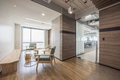 MADA Design Factory designed the offices of cloud service company Leap Solutions, located in Bangkok, Thailand. Leap Solutions Asia (LSA) was established Loft Office, Office Lounge, Office Interior Design, Office Interiors, Factory Design, Painted Floors, Downlights, Bangkok, Flooring