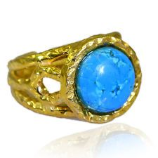 Turquoise Copper bewitching jaipur Ring Turquoise L-1in UK KMOQ
