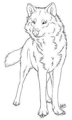 Watching You Wolf Lineart by VictoriaDB.deviantart.com on @deviantART