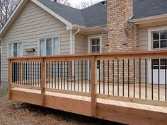 Diy Porch Railing Fresh Chesterfield Cedar Decking and Railing with Aluminum Balusters - Modern Wood Deck Railing, Deck Railing Design, Cable Railing, Stair Railing, Outdoor Handrail, Wood Deck Designs, Deck Balusters, Porch Railings, Diy Porch