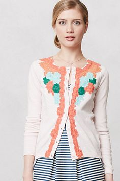 I cannot even explain how much I adore this cardigan. It hurts. Flower District Cardigan #anthropologie