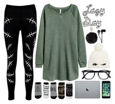 """Lazy Day"" by lorna-castillo ❤ liked on Polyvore featuring Boohoo, Kate Spade, Humble Chic and Skullcandy"