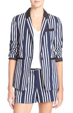 Free shipping and returns on rag & bone 'Windsor' Stripe Blazer at Nordstrom.com. Slim notch lapels and sleek grosgrain-detailed pockets style this boxy-cut blazer patterned in nautical stripes?a versatile piece that pairs with casual and dressy ensembles alike.
