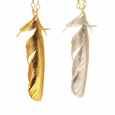 Claire English - Special Jewellery Company — The Magpie Tail Feather Necklace