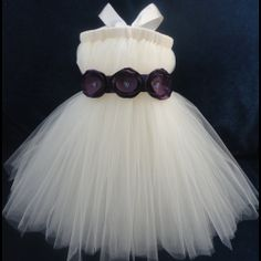 Flower Girl Dress Tutu Tutus Portrait Dress by StrawberrieRose, $69.95