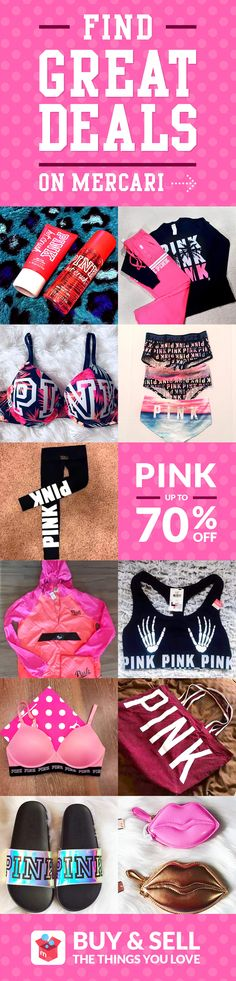 7560e46bbe Get your PINK Victoria s Secret at low prices with Mercari app! Buy and  sell new