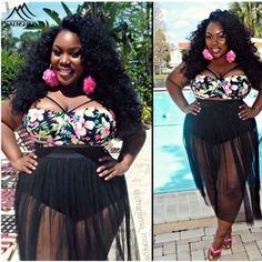 Your day won't be complete without this! Brenda Floral Pri... http://simplyparisboutique.com/products/plus-size-4xl-women-bikinis-beach-bathing-suit-black-sexy-swimsuit-2016-plus-size-swimwear-women-floral-print-bathing-suits