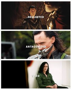 Aww.... Poor Loki...... Can I be his friend? Somebody needs to be his friend. Maybe then he won't be so sad all the time.