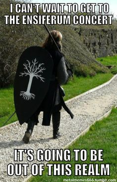 Ensiferum concert and this shield (I really think it's the Tree of Gondor). Perfection.