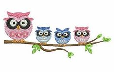 Following Mama 8 - 5x5 | What's New | Machine Embroidery Designs | SWAKembroidery.com owl Ace Points Embroidery