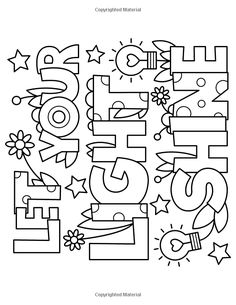 Let Your Light Shine Coloring Page Inspirational Pin by Highly Favored On 2 Quote Coloring Pages, Colouring Pages, Printable Coloring Pages, Coloring Sheets, Coloring Books, Free Adult Coloring, Coloring For Kids, Color Quotes, Let Your Light Shine