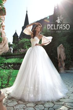 ALAMEA wedding dress by BELFASO COUTURE ONLY at Charmé Gaby Bridal Gown Boutique Tampa Bay FL