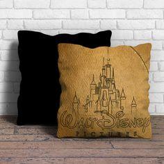 Walt Disney Logo Sketch Pillow | Aneend