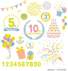 Find Anniversary Elements stock images in HD and millions of other royalty-free stock photos, illustrations and vectors in the Shutterstock collection. Web Design, Logo Design, Graphic Design, Birthday Logo, 10 Logo, White Day, Reference Images, Baby Party, Business Design