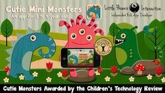 FREE now for iPhone: Cutie Mini Monsters - an interactive counting book (from 1 to 10) plus a set of jigsaw puzzles with the monster theme #kids #sale #apps
