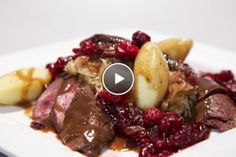 Hazenrugfilet met traditionele zuurkool en cranberrycompote - Recept | 24Kitchen