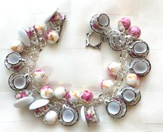 Teapot Black Faceted Crystal Glass Tea Pot Dangle Charm for European Bracelets Fashion Jewelry for Women Man