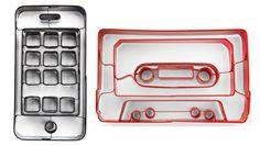 Oh wie cooool - ein Retro-Speichermedium! ;-) /via @Alina Lauchart #Musikkassette #MC #retro #Style #Desgin #EssenUndTrinken