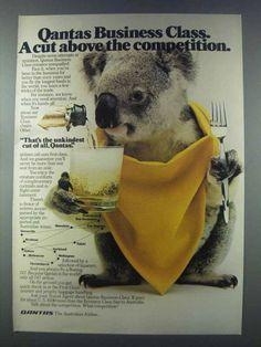 1981 Qantas Koala Advert - A Cut Above the Competition