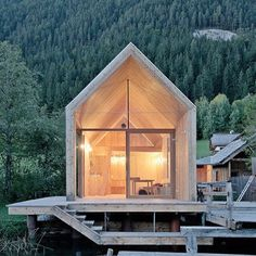 Norwegian hideaway in the woods. modern cabin architecture via kaufmannmercantile