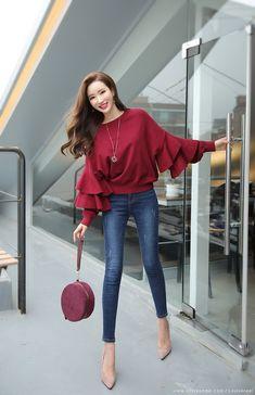 Korean Women's Fashion Shopping Mall, Styleonme. N – Fatty Korean Women's Fashion Shopping Mall, Styleonme. N – Fatty blouse summer blouse style blouse ideas Girls Fashion Clothes, Teen Fashion Outfits, Classy Outfits, Look Fashion, Stylish Outfits, Trendy Fashion, Womens Fashion, Petite Fashion, Women's Fashion Dresses