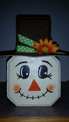 Mounting a Block or Paver Walkway – Outdoor Patio Decor Painted Bricks Crafts, Brick Crafts, Painted Pavers, Concrete Crafts, Stone Crafts, Painted Rocks, Snowman Crafts, Fall Crafts, Halloween Crafts