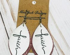 - available in other sizes Diy Leather Earrings, Diy Earrings, Leather Jewelry, Diy Leather Gifts, Leather Craft, Handmade Leather, Leather Bookmark, Leather Journal, Handmade Books