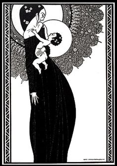 Mac Harshberger 'Untitled (Madonna and Child)' circa 1924, woodcut