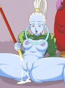 Vados est la soeur Whis, l'un des 12 dieu de la destruction des univers dans Dragon Ball Super hentai. Découvrez la complètement nue.