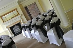 Black and white wedding Holne park house Devon.