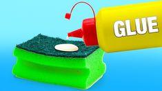 28 Sponge Hacks You Should Know 5 Min Crafts, Diy Arts And Crafts, Home Crafts, Crafts For Kids, Sushi Rolling Mat, Glue Gun Crafts, Kitchen Sponge, Diy Back To School, Sewing Pillows