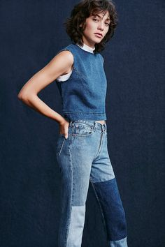 Silence + Noise Denim Shell Tank - Urban Outfitters