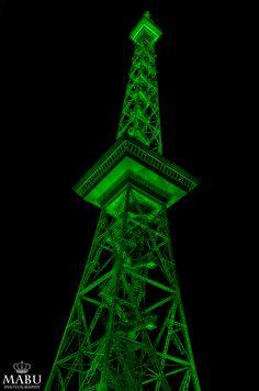 Der Berliner Funkturm in der Nacht. Grüne Woche in Berlin. (Photo: Copyright @ MaBu Photography)