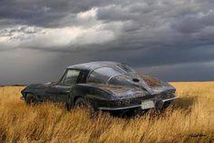 Split window Corvette. Fiberglass doesn't rust...