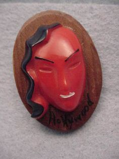 Celluloid-Wood-Deco-Lady-Pin