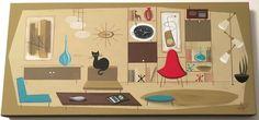 EL GATO GOMEZ PAINTING RETRO 1950'S MID CENTURY DANISH MODERN EAMES KNOLL CAT #Modernism Cat Cards, Mid Century Art, Modernism, Danish Modern, 1950s, Retro, Prints, Painting, Ebay