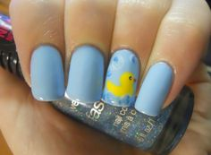 Holy  For a boy baby shower i would totes do that on my nails!