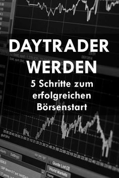 Daytraders become - 5 steps to a successful start on the stock market Bullet Journal Tracker, Money Plan, Savings Planner, Budget Planer, Day Trading, Technical Analysis, Financial Planning, Finance Tips, Pinterest Marketing