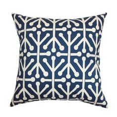 Blue & White Pillow