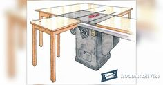 Table Saw Infeed Table Plan - Table Saw Tips, Jigs and Fixtures | WoodArchivist.com