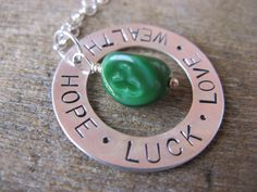 St Patrick's Day Stamped Washer Necklace!