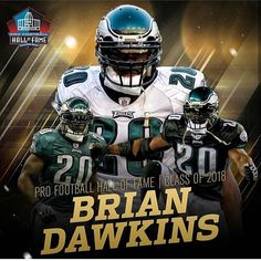 I am still riding the high from this Eagles Season. and I am so happy my favorite player of all time is going to get inducted into the Hall Of Fame. B-Dawk deserves it. 20 for life. Philadelphia Eagles Football, Nfl Philadelphia Eagles, Dallas Cowboys, Football Is Life, Football Memes, Football Players, Eagles Season, Brian Dawkins, Clothes For Big Men