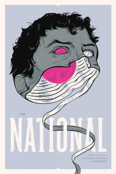 The National Gig Poster Chicago - Delicious Design League Gig Poster, Poster Prints, Art Print, Tour Posters, Band Posters, Music Posters, Retro Posters, Apps Für Android, Poster Design Inspiration