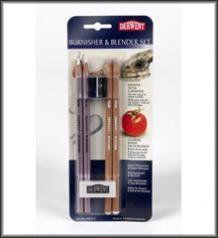 Eraser and Sharpener Derwent 2301774 Blender and Burnisher Pencil Blister Pack