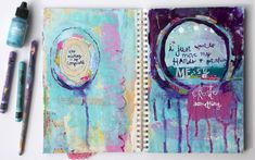 Mary Wangerin, published artist and blogger, shares a colorful art journaling tutorial: one of her favorite methods for spilling out creative thoughts.