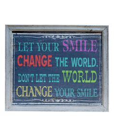 Look at this 'Smile' Wall Art on #zulily today!