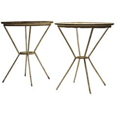 Mid-20th Century X Base Iron Rebar Tables | From a unique collection of antique and modern side tables at https://www.1stdibs.com/furniture/tables/side-tables/