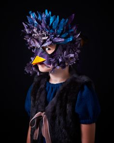 Make a cool mask and wear it for your portrait! #fun #project.